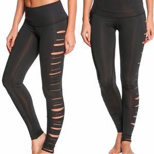 Teeki Laser Cut Jimi Hot Pants Leggings: Black